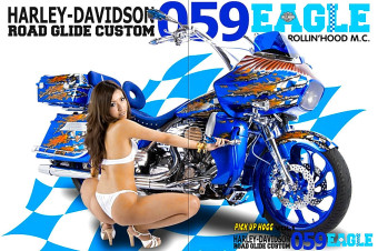 """ROLLIN' HOOD 059 EAGLE"" Powder Coating Project #1 / Harley Davidson"
