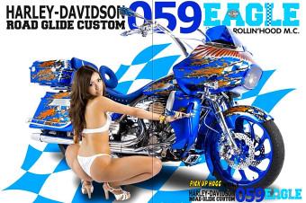 """ROLLIN' HOOD 059 EAGLE"" Powder Coating Project #1 / Harley Davidson"